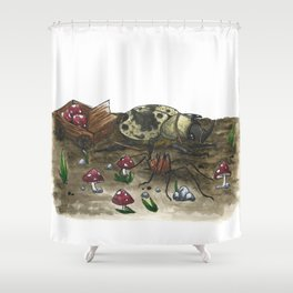 Little Worlds: The Harvest Shower Curtain
