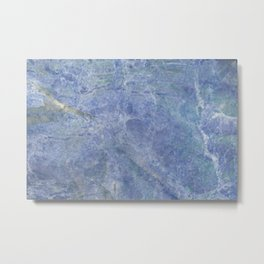 Magical Stone Blue Marble Metal Print
