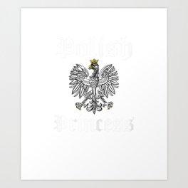 Womens Polish Princess Shirt Girls Polska Pride Poland TShirt Gift Art Print