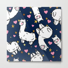 cute alpacas Metal Print