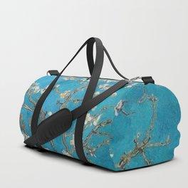 Vincent van Gogh Blossoming Almond Tree (Almond Blossoms) Medium Blue Duffle Bag