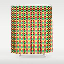 Happy Honeycombs Shower Curtain