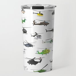 All Helicopters Pattern Travel Mug