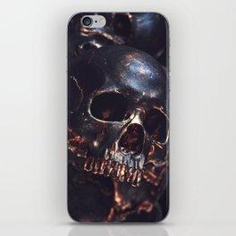 Black Gold Skull iPhone Skin