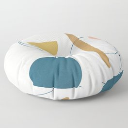 Free Abstract Shapes II Floor Pillow
