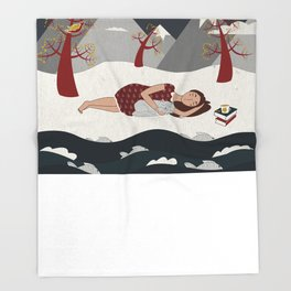 The River Throw Blanket
