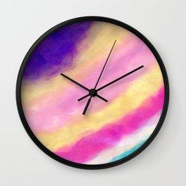 Rainbow Clouding Wall Clock