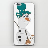 olaf iPhone & iPod Skins featuring Olaf & Pals by Cheshire Giraffe