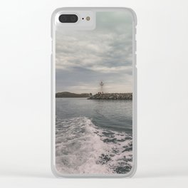 Boat trip in Howth, Ireland Clear iPhone Case