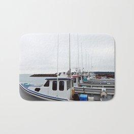 Lobster Boat Line-up Bath Mat