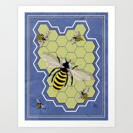 Honeycombs Art Print