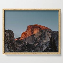 Yosemite Half Dome Glow Serving Tray