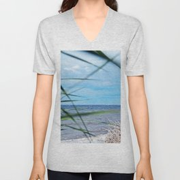 Secluded Beach Unisex V-Neck