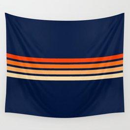 Minimal Orange Abstract Retro Racing Stripes 70s Style - Bluesane Wall Tapestry