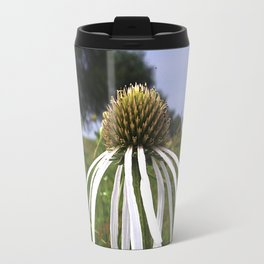 Pale (very pale!) purple coneflower, Pope Farm Conservancy prairie 7493 Travel Mug