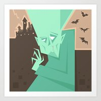 vampire Art Prints featuring Vampire by 5wingerone