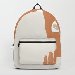 Hamsa Hand with Plant | Burnt Orange Backpack