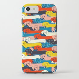 COLORED DOGS PATTERN 2 iPhone Case