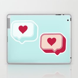 Heart Chats Laptop & iPad Skin