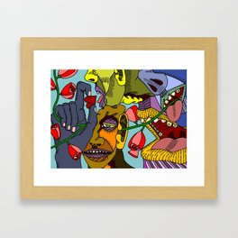 Chatter Framed Art Print