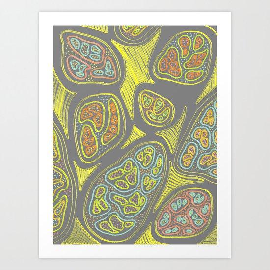 Lemon Peel Art Print