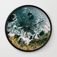big sur Wall Clocks featuring Kirk Creek, Big Sur by GBret