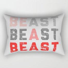 Be a Beast Rectangular Pillow