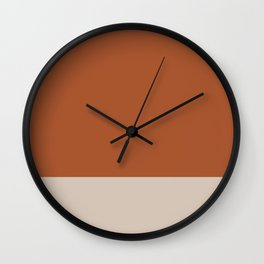 Minimalist Solid Color Block in Clay and Putty Wall Clock
