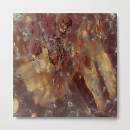 Abstract copper pattern Metal Print
