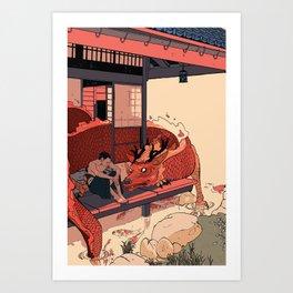 Tell a Dragon Colorful Stories Kunstdrucke