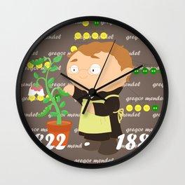 Gregor Mendel Wall Clock