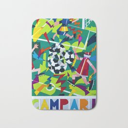 Vintage 1990 Campari Soccer Nespolo Mondiali Advertisement Print Bath Mat