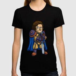 Angry man warrior cartoon T-shirt