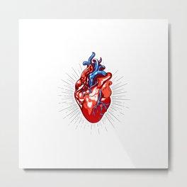 Realistic Heart Illustration Metal Print