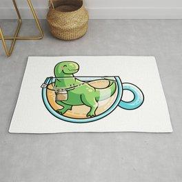 Kawaii Cute Tea-Rex Pun Rug