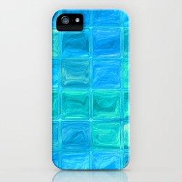 Blue glass tiles iPhone Case