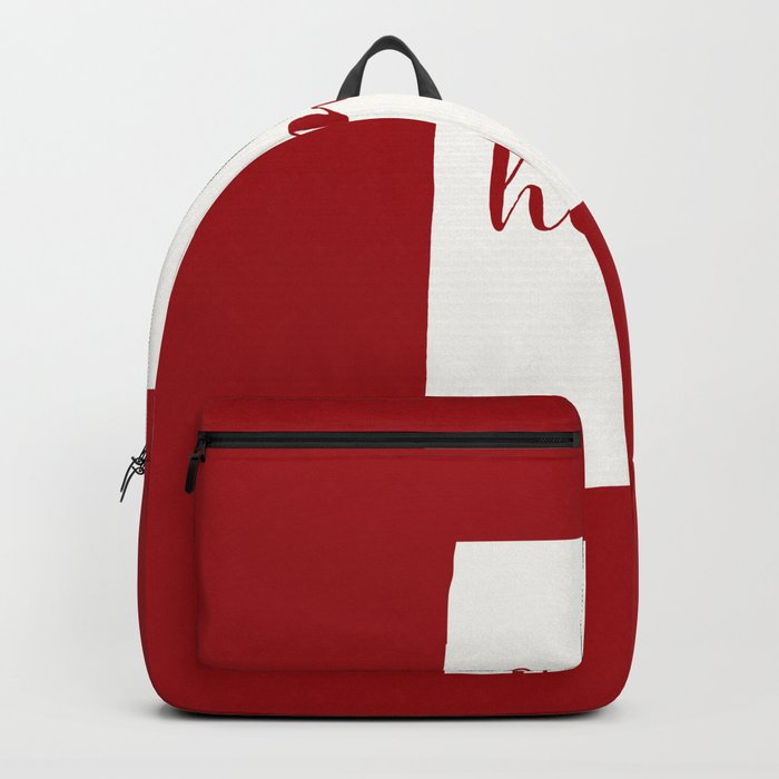 Alabama is Home - White on Red Backpack