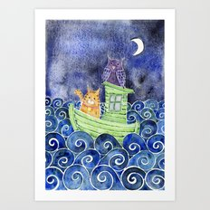 The Owl & The Pussycat Art Print