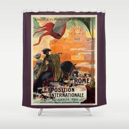 Rome 1911 world exposition Shower Curtain