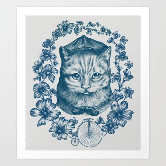 VINTAGE CAT Art Print