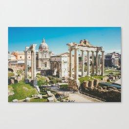 Roman Forum Ruins, Rome, Italy Canvas Print
