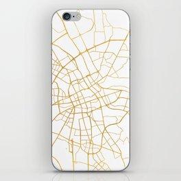 WARSAW POLAND CITY STREET MAP ART iPhone Skin