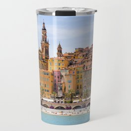 Old village of Menton French Riviera in summer Travel Mug