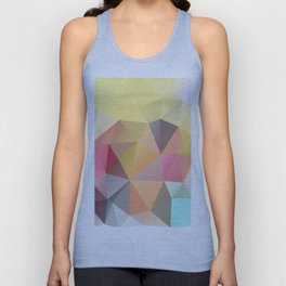 Polygon print bright colors Unisex Tank Top