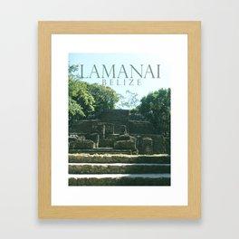 LAMANAI: Mask Temple Framed Art Print
