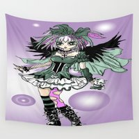 lolita Wall Tapestries featuring Gothic Lolita  by tiny baubles and bling