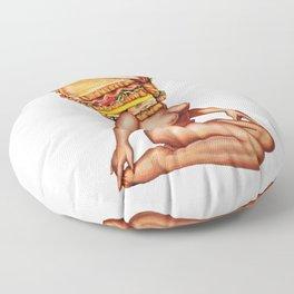 Sandwich Girl Floor Pillow