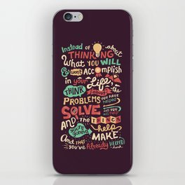 Solving Problems, Making Things iPhone Skin