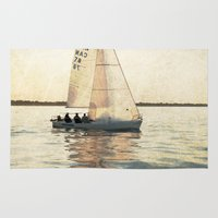 sailing Area & Throw Rugs featuring Sailing by Mary Kilbreath
