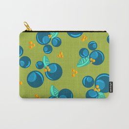 Blueberries | Green Carry-All Pouch